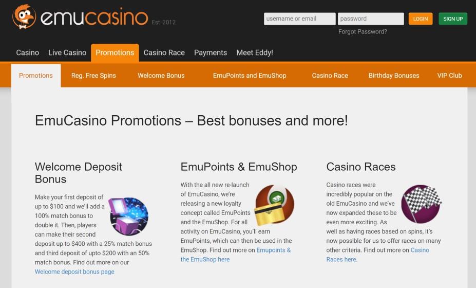 Emu Casino Bonus Codes 2021